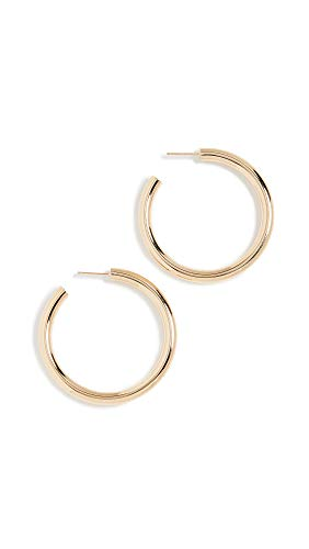 - Jennifer Zeuner Jewelry Women's Lou Medium Hoop Earrings, Yellow Vermeil, One Size