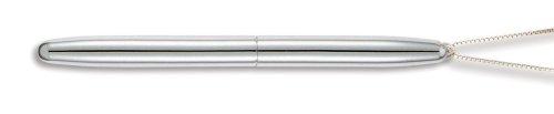- Fisher (350CN) Bullet Space Pen, Chrome Finish, w/Ring for Neck Chain