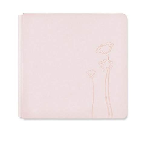 Mothers Memory Album - Light Blush Pink Flower 12x12 Almond Kiss Flourish Album Cover Only by Creative Memories