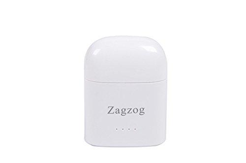 Mini auriculares inalámbricos Mini Bluetooth V4.2 Auriculares estéreo manos libres con Mic Funda de carga portátil para Iphone 8/7 / 7plus / 6Samsung S8 / S7 Nota 8 negro Blanco