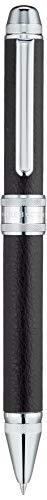 3 Multi Action Pens - Platinum Double 3 Action - 2 Color 0.7 mm Ballpoint Multi Pen 0.5 mm Pencil - Black Body - Cow Leather Wrapped (MWBL3000#1)