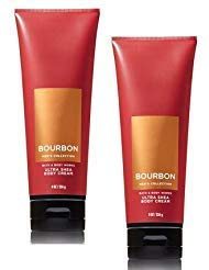 Bath and Body Works 2 Pack Men's Collection Ultra Shea Body Cream BOURBON. 8 Oz