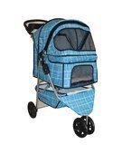 BestPet Grid 3-Wheel Pet Stroller, Classic Blue by BestPet
