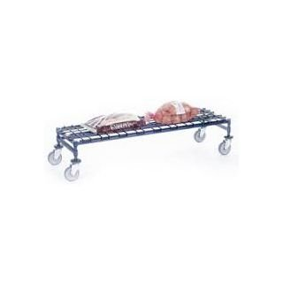 Nexel Industries DM2460ZB Mobile Dunnage Rack with 2 Braking Casters in Chrome Finish44; Poly-Z-Brite - 24 x 30 x 12 - Chrome Rack Dunnage