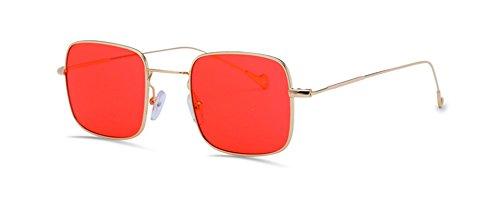 GAMT Retro Square Ocean Lens Sunglasses Unisex, Chic Metal Frame Fashion Designed - Frames Spectacle Branded