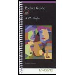 Pocket Guide To APA Style, Perrin, 1111720134