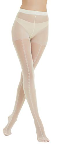 AKININIE Sexy Floral black/white lace leggings rose lace pantyhose for women (2 pairs - Pantyhose Rose