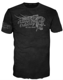 Arms Cigars - Lethal Threat VV40115XXL Men's Vintage Velocity T-Shirt (Cigar Skull)(Black, XX-Large), 1 Pack