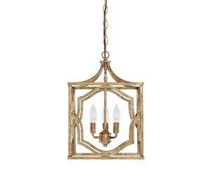 Light Chandelier Capital Lighting - Capital Lighting 9481AG Blakely 3-Light Foyer Fixture, Antique Gold Finish