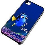 DCD - Just Keep Swimming Finding Dory Custom Case for Iphone 4/4s 5 5c 6 6plus (iPhone 5/5s Black) (Canada Customs Duties And Taxes On Imports)
