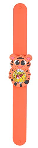 Wild Republic Tiger, Slap Bracelets for Kids, Toy Watch, Educational Toys, 9 inches