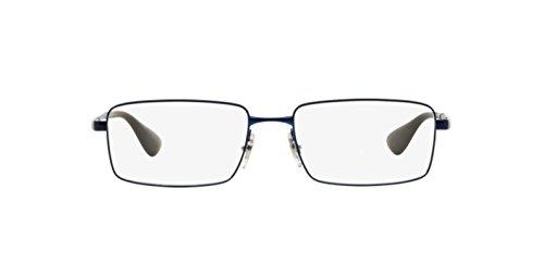 Ray Ban Optical Montures de lunettes RX6337M Pour Homme Matte Black, 53mm Noir (Negro)