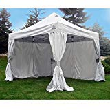 10ft Aluminum Frame (Undercover 10' X 10' Aluminum Commercial Pop-Up w/CRS Polyester Wall Enclosure)
