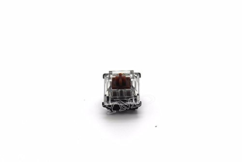 Gateron Transparent Cover MX 3 pin 5 pin Switches Shaft for all MX Mechanical Keyboard (Brown 5pin)