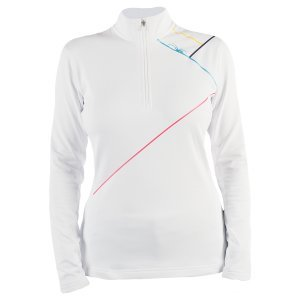 Women's Flicker Therma Stretch T-Neck (White/Multi Color) (Thermal Underwear Spyder compare prices)