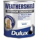 Undercoat Exterior - Weathershield Pure Brilliant White Exterior Undercoat 750ml [Misc.] by Dulux
