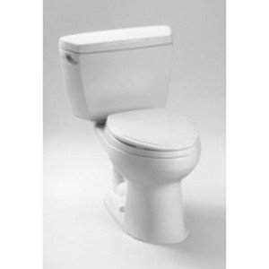 Drake 1.6 GPF Elongated 2 Piece Toilet with Bolt Down Lid Finish: Sedona Beige