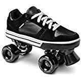 Street Roller Skate Low Top (Black, 9.5)