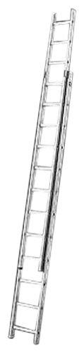 Hailo ProfiStep-Duo 2 x 18 pelda/ños Escalera industrial 2 tramos de aluminio