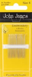 Colonial Needle Bulk Buy Crewel/Embroidery Hand Needles Size 8 16 Pack JJ135-08 (12-Pack) by Colonial Needle