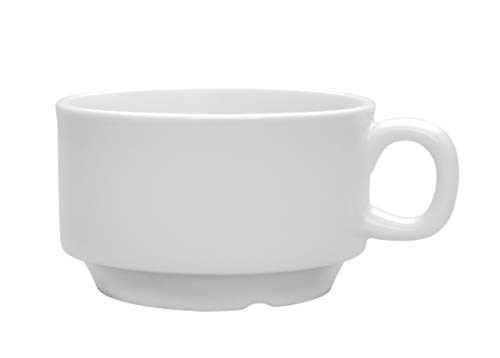 Chef Expressions 3-ounce AD Milano Stackable Espresso Cup, Restaurant Quality, Vitrified Bright White Porcelain (Case of 12)
