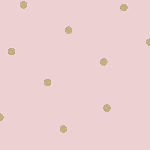 - Dotty Wallpaper Pink / Gold Holden 12604