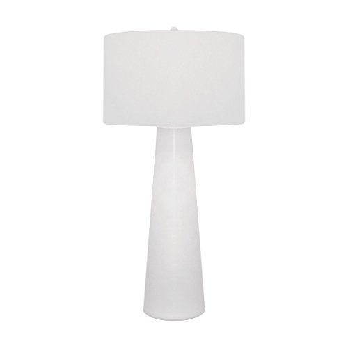 Illuminati Collection White Obelisk Table Lamp With Night Light