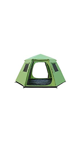 - SCRT Outdoor Hexagonal Automatic Tent Telescopic Aluminum Pole Camping Tent Free Build Double 6-8 Large Tent