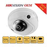 4MP PoE Security IP Camera - Mini Dome,Indoor and Outdoor,Wide Angle 2.8mm Lens,Built
