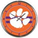 NCAA Clemson Tigers Chrome Clock, 12