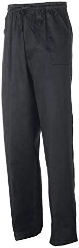 GIBLORS Pantalone Bianco Unisex Alan con Elastico