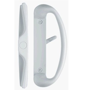 Charming Rockwell Cambridge Sliding Glass Door Handle Set In White Finish For  3 15/16u0026quot