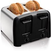 Hamilton Beach Cool Wall 4-Slice Toaster, Chrome, Extra-wide slots