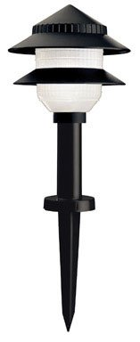 Moonrays Low Voltage Path Lights In Tiered Design (Low Voltage 10-Fixture Kit, Black)