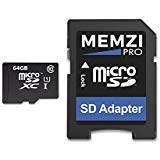 MEMZI PRO 64GB Class 10 90MB/s Micro SDXC Memory Card with SD Adapter for Cobra in Car Dash Cameras