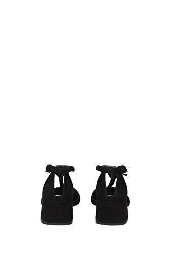 Sandalias Prada Mujer - Gamuza (1I363F) EU Negro