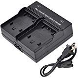(Dual Channel Battery Charger for Sony NP-FH30, NP-FH40, NP-FH50, NP-FH60, NP-FH70, NP-FH100 InfoLITHIUM H Series)