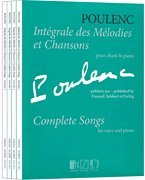 Complete Piano Original Music (Complete Songs - Complete Set (Vol. 1-4) Voice and Piano (Original Keys) - Francis Poulenc - Complete Set (Vol. 1-4) - Songbook)