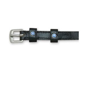 Perri's Spur Straps with Crystals, Black/Blue