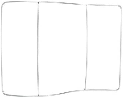 Trade Show Display Single Sided Trade Show Booth Tradeshow Display Banner Backdrop Tension Fabric Banner 8ftS Shaped