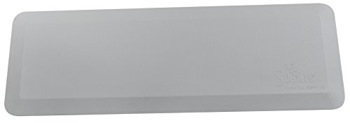 "Secure SBFP-1G Flatpad Beveled Edge Bedside Fall Safety Mat, Gray, 70""Lx24""Wx1""H - Waterproof, Antimicrobial, Non Slip, Durable Cover Material (Mat Antimicrobial)"