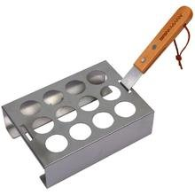 Jalapeno Rack, Stainless Steel, Holds 12 Peppers