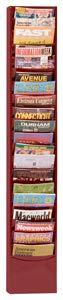 Durham 400-55 Burgundy Cold Rolled Steel 20 Contour Pocket Vertical Literature Rack, 9-3/4