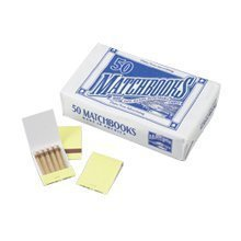 40 Boxes of 50 Matchbooks - Simple Plain White Book Matches (Since 1939) by D. D. Bean & Sons Co. made in New England