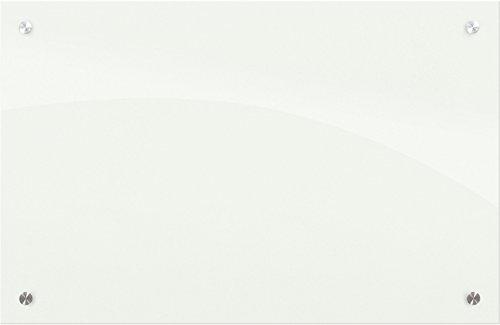Best-Rite 83939 Enlighten Glass Dry Erase Whiteboard, Glossy White 1/8 inch Tempered Glass, 2 x 3 Feet by Best-Rite