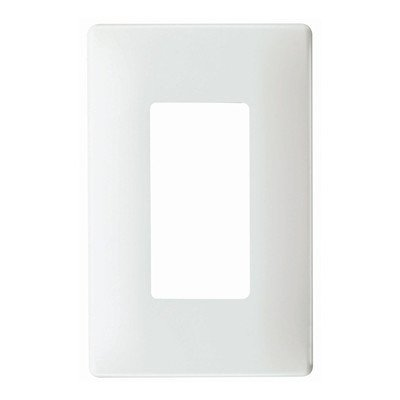 Legrand SWP26W Single Gang Decorator Screwless Wall Plate in White