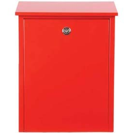 (Allux Series Wall Mount Mailbox Allux 200 in Red)