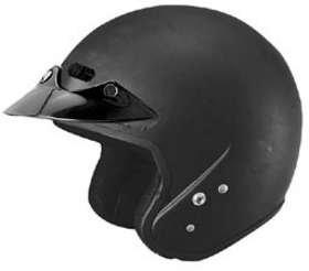Cyber Helmets U-6 Open Face Motorcycle Helmet Flat Black Small S
