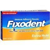 Fixodent Extra Hold, Denture Adhesive Powder--2.7 oz (76 g)