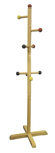 Ore International JW-101 Kids' Primary-Color 8-Peg Coat Rack